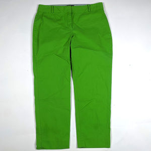 Talbots Signature Crop Size 8 Lime Green Pants